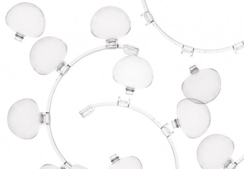 Foscarini Caboche Sospensione Media transparent