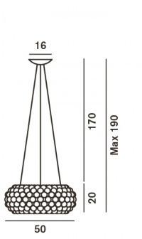 Foscarini Caboche Sospensione Media LED Ersatzteil