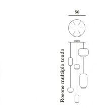Foscarini Runder Mehrfach-Baldachin für Chouchin