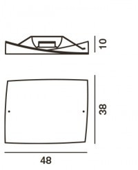 Foscarini Folio Grande Soffitto und Grande Parete Ersatzteil