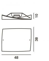 Foscarini Folio Grande Soffitto Ersatzteil