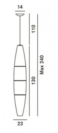 Foscarini Havana Sospensione Grafik