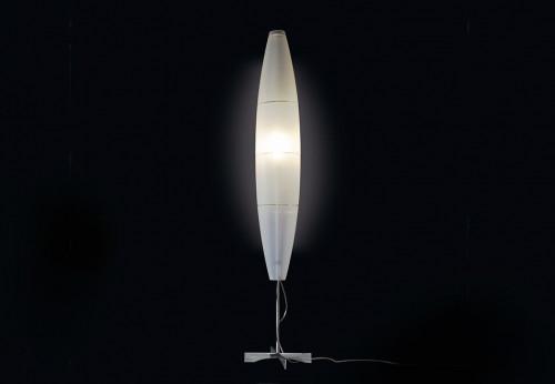 Foscarini Havana Terra mit Leuchtenfuß in Aluminium