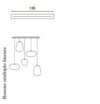 Foscarini Länglicher Mehrfach-Baldachin 135 cm für Rituals