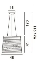 Foscarini Tress Sospensione Grafik