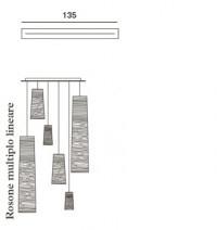 Foscarini Länglicher Mehrfach-Baldachin 135 cm für Tress