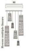 Foscarini Länglicher Mehrfach-Baldachin 90 cm für Tress