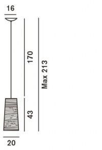 Foscarini Tress Mini Sospensione Ersatzteil