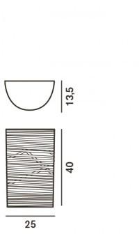 Foscarini Tress Parete Piccola Grafik