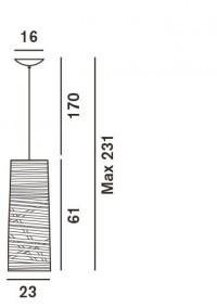Foscarini Tress Sospensione Piccola Grafik