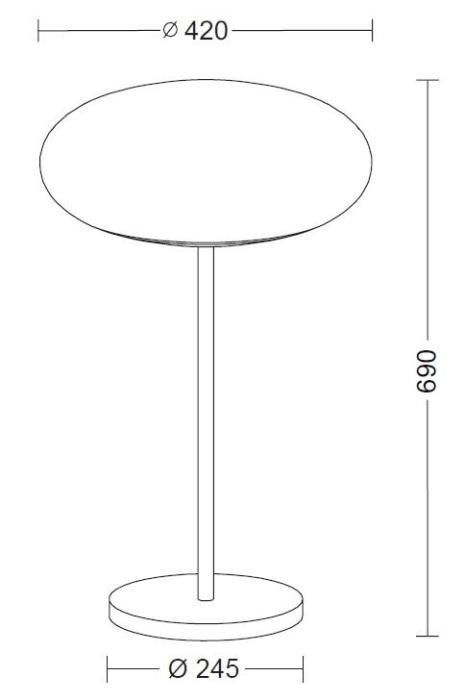 Holtkötter Amor T 9352 Diffusordurchmesser 42 cm Grafik