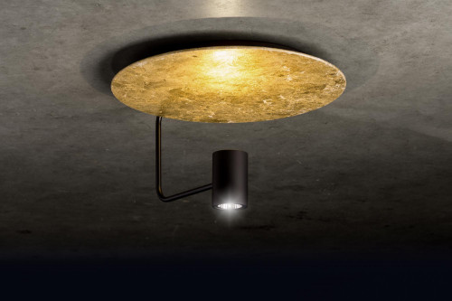 Holtkötter Disc Reflektor Blattgold, Leuchtenkopf schwarz