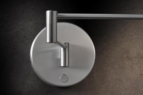Holtkötter Plano WB Aluminium Wandhalterung mit Tastdimmer