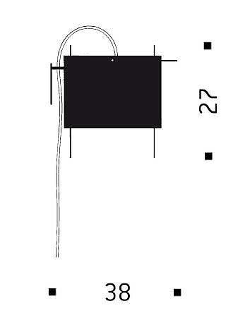 Ingo Maurer 24 Karat Blau Wall Grafik
