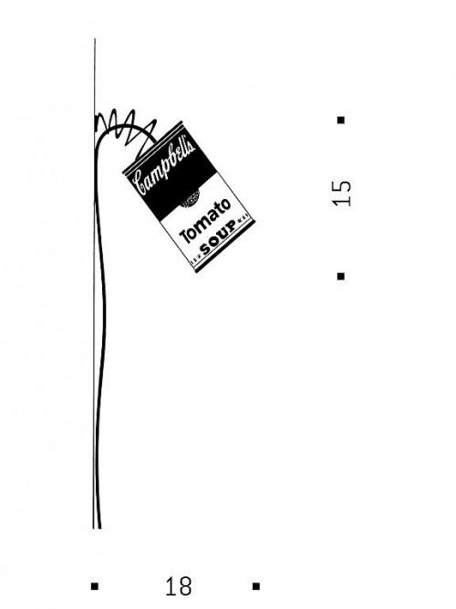 Ingo Maurer Canned Light LED Wandleuchte Grafik