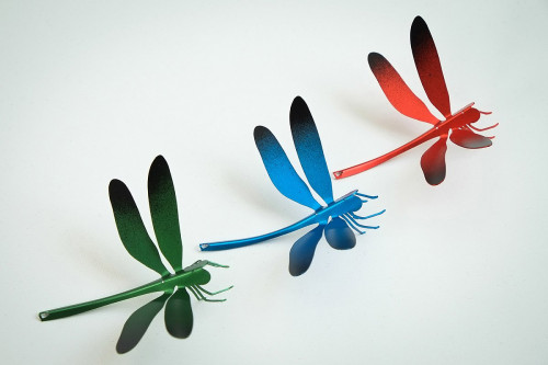 Ingo Maurer I Ricchi Poveri Bzzzz Libelle grün, blau, rot