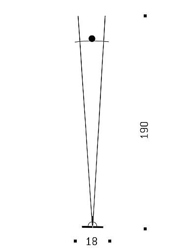 Ingo Maurer Schnurtransformator mit Schieberegler für Ilios