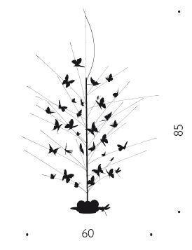 Ingo Maurer La Festa delle Farfalle 85 cm graphic