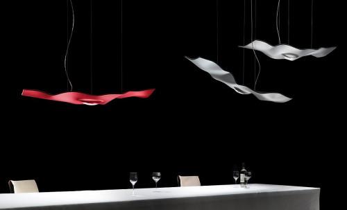 Ingo Maurer Luce Volante rot und weiß