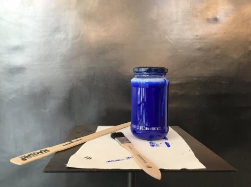 Ingo Maurer Blue Luzy blaue Farbe
