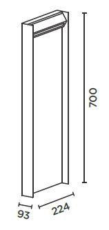 IP44.DE Slat 70 Poller Grafik