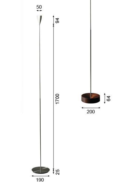 K-meral CECIL Stehleuchte Grafik
