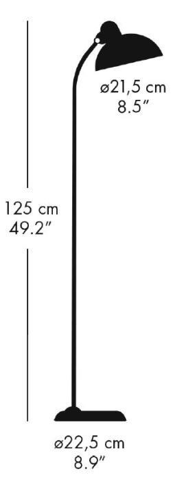 Kaiser Idell 6556-F Super Stehleuchte Grafik
