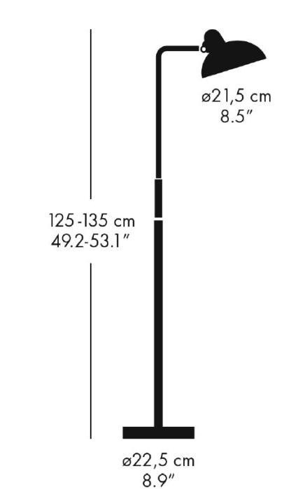 Kaiser Idell 6580-F Luxus Stehleuchte Grafik