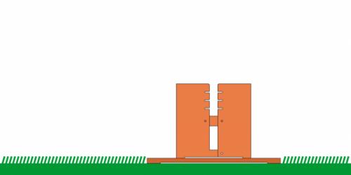 Keilbach - Fidibus mit Bodenplatte