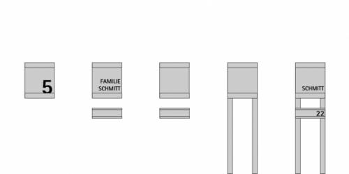 Keilbach - Briefkasten Glasnost Kombinationsmöglichkeiten