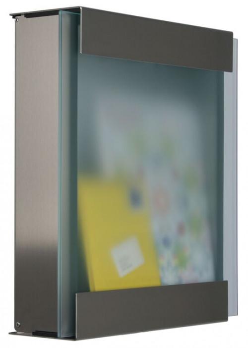 Keilbach - Briefkasten Glasnost Glas Klassik seitlich