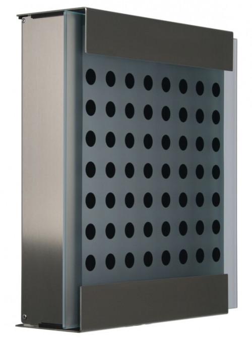 Keilbach - Briefkasten Glasnost bedrucktes Glas Ausführung black dots