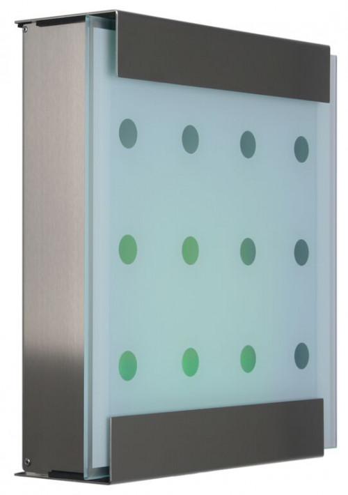 Keilbach - Briefkasten Glasnost bedrucktes Glas Ausführung dots