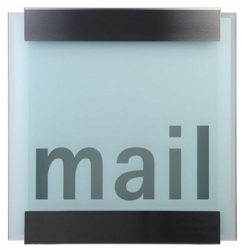 Keilbach - Briefkasten Glasnost bedrucktes Glas Ausführung mail