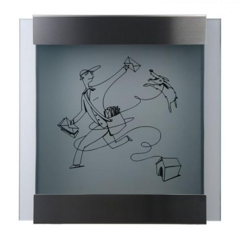Keilbach - Briefkasten Glasnost bedrucktes Glas Ausführung michl-luz