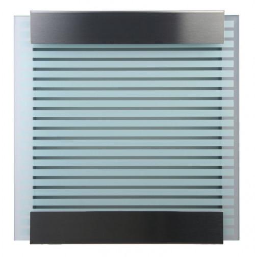Keilbach - Briefkasten Glasnost bedrucktes Glas Ausführung white stripes