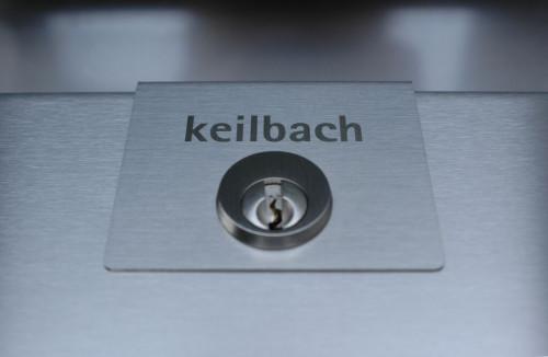 Keilbach - Glasnost Edelstahl Briefkasten Schloss