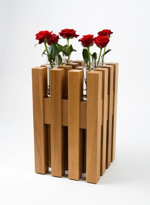Keilbach - Hocker Sixteen mit Blumenvase Flower