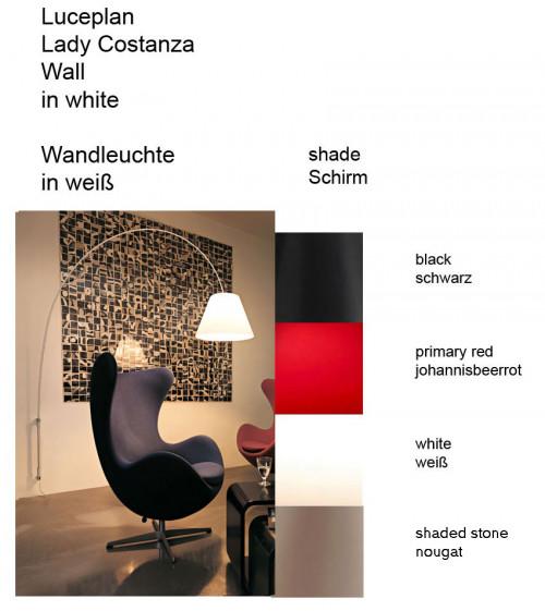 Luceplan Lady Costanza Wandleuchte Dimmer Farben