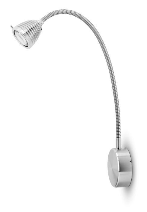 Less'n'more Athene Wandleuchte A-BWL2 Aluminium, flexibler Arm Aluminium