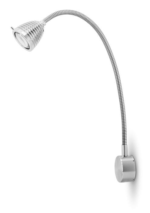 Less'n'more Athene Wandleuchte A-MWL2 Aluminium, flexibler Arm Aluminium