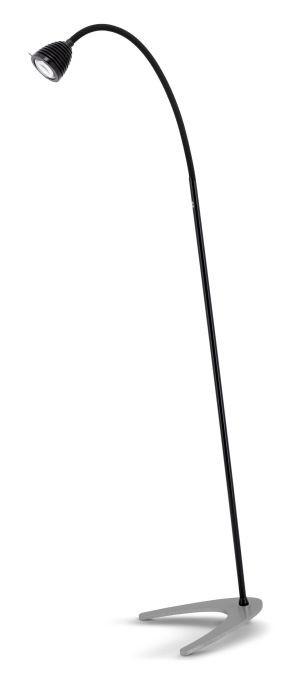 Less'n'more Athene Standleuchte A-SL schwarz, flexibler Arm Textil schwarz