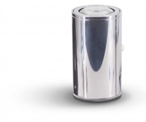 Less'n'more Athene Bodenleuchte A-BS Aluminium poliert, Kopf Aluminium poliert