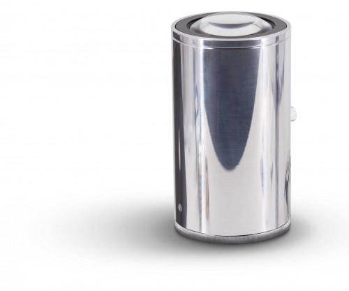 Less'n'more Athene Bodenleuchte A-BS Aluminium poliert, Kopf schwarz