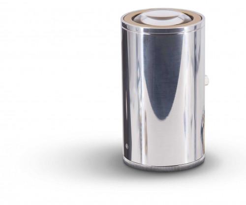 Less'n'more Athene Bodenleuchte A-BS Aluminium poliert, Kopf gold