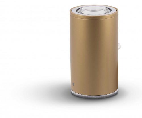 Less'n'more Athene Bodenleuchte A-BS gold, Kopf Aluminium poliert