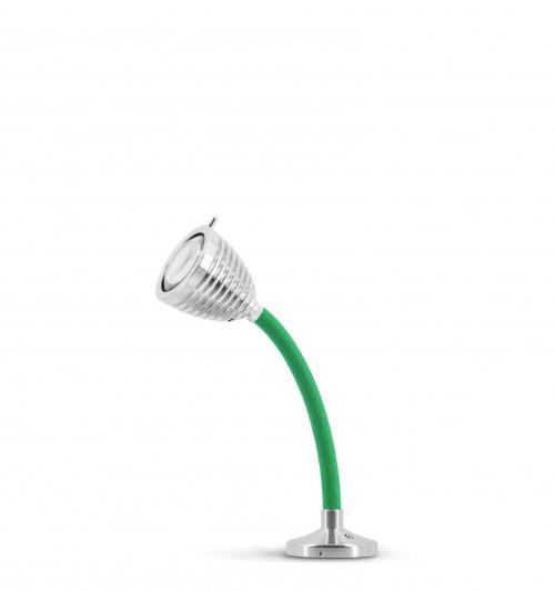 Less'n'more Athene Einbauleuchte A-AL1 Aluminium, flexibler Arm Textil grün