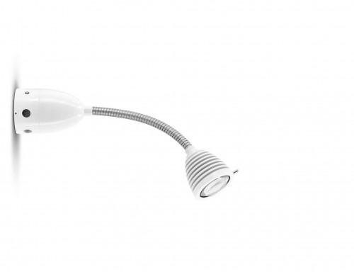 Less'n'more Athene Wand- / Deckenleuchte A-BDL1 weiß, flexibler Arm Aluminium
