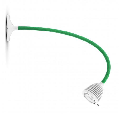 Less'n'more Athene Wand- / Deckenleuchte A-MDL2 weiß, flexibler Arm Textil grün