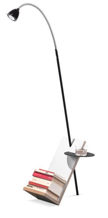 Less'n'more Lässing Buchständer LÄ-A schwarz, flexibler Arm Aluminium
